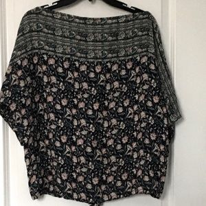 Lucky Brand Top Floral Print NWT